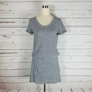Lou & Grey Striped T-shirt Dress Sz M